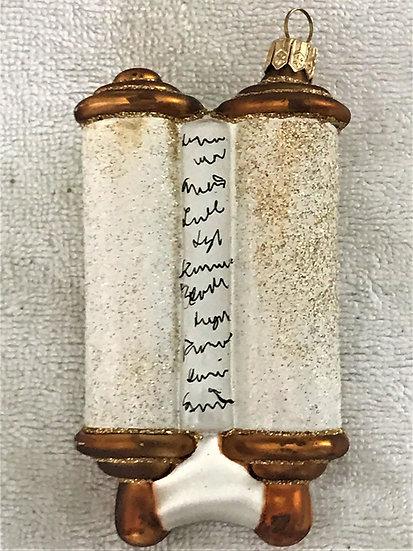 "#901 - Thomas Glenn ""Torah - Scroll"" Molded Jewish Holiday Ornament"
