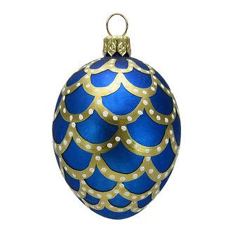 """#414 - Thomas Glenn """"Blue"""" Mini Faberge Egg Ornament"""