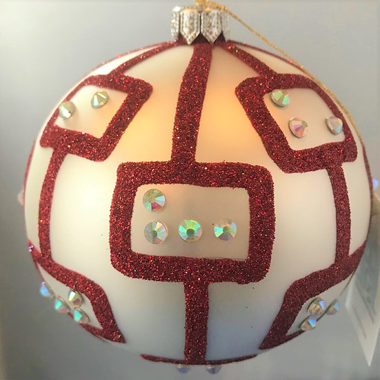 "#1612 - Thomas Glenn ""Pod Candy Cane"" Ball Ornament"