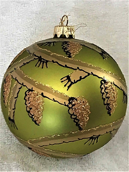 "#14-2015 - Thomas Glenn ""Pine Forest"" Ball Christmas Ornament"