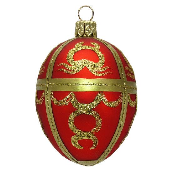 "#412 - Thomas Glenn ""Red"" Mini Faberge Egg Ornament"