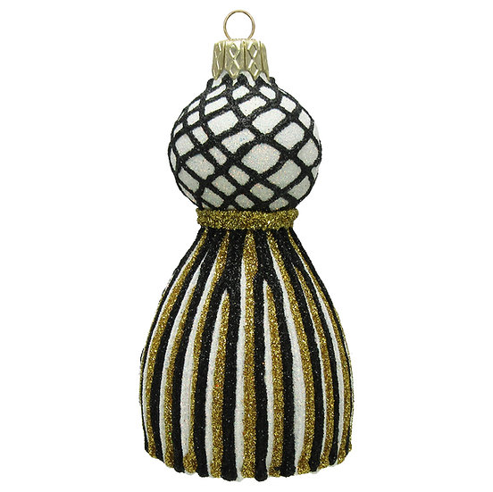 "#1656GD/BK - Thomas Glenn ""Gold and Black Tassel"" Molded Ornament"