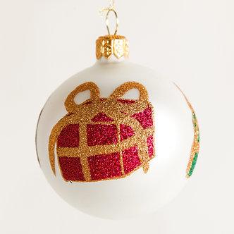 "#1870 - Thomas Glenn ""Gifts"" Mini Ball Ornament"