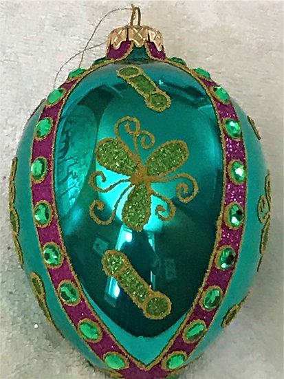 "#853 - Thomas Glenn ""Dandy Egg"" Faberge Egg Christmas Ornament"