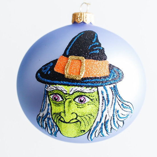 "#1973 - Thomas Glenn ""Trick or Treat - Witch"" Halloween Ball Ornament"