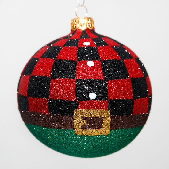 "#2039 - Thomas Glenn ""Lumberjack"" Ball Christmas Ornament"