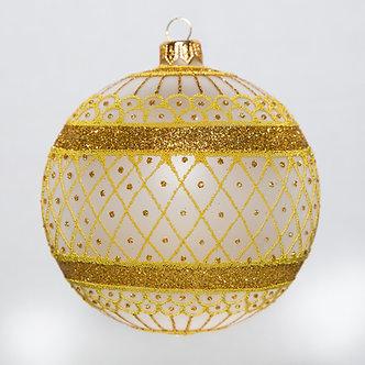 "#700GD - Thomas Glenn ""Frosted Gold Coronation"" Ball Ornament"
