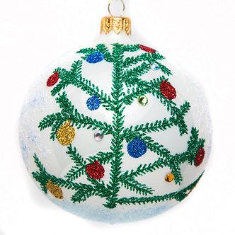 "#1704 - Thomas Glenn ""Fir Tree"" Ball Ornament"