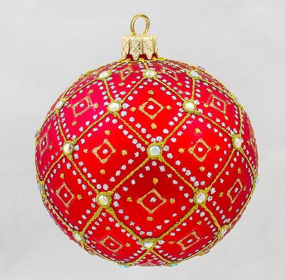 """#634R - Thomas Glenn """"Red Pearl"""" Ornament"""