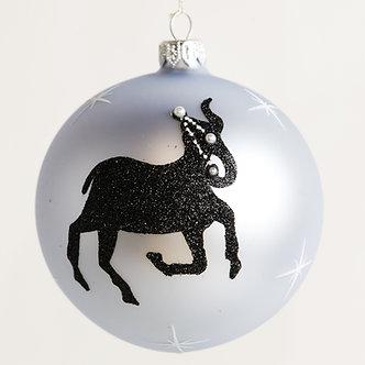 "#1855 - Thomas Glenn ""Aries"" Zodiac Christmas Ball Ornament"