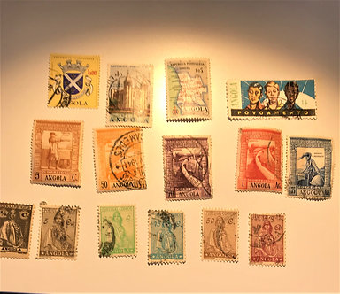"Stamps ""Angola"" 15 Different Pre-1970 Used"