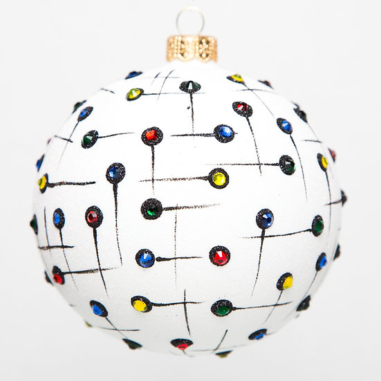 "#1713 - Thomas Glenn ""Improv"" Ball Ornament"