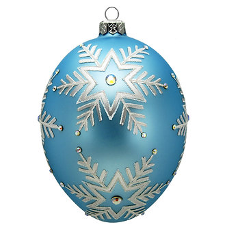 "#1646 - Thomas Glenn ""Snowflake"" Faberge Egg Ornament"
