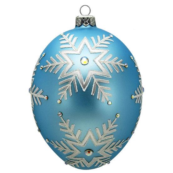 "#1646 - Thomas Glenn ""Snowflake"" Faberge Egg Ornament"