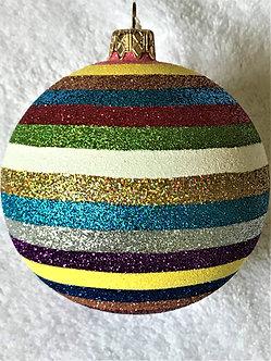 "#444 - Thomas Glenn ""Horizontal Stripes"" Ball Christmas Ornament"