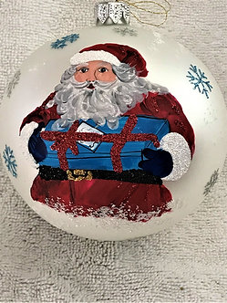 "#1837 - Thomas Glenn ""Santa - 2018"" Ball Christmas Ornament"