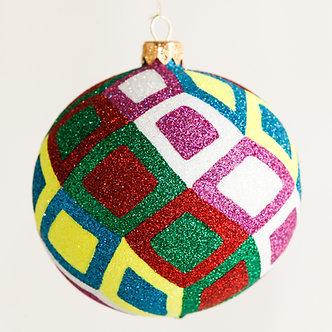 "#1809 - Thomas Glenn ""Kaleidoscope"" Ball Ornament"