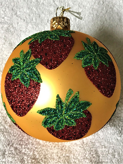 "Thomas Glenn ""Strawberries"" Ball Christmas Ornament"