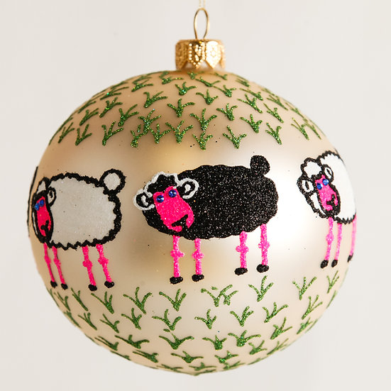 "#1844 - Thomas Glen ""Baa Baa"" Ball Ornament"