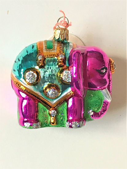 "Thomas Glenn ""Elephant - Pink"" Molded Christmas Ornament"
