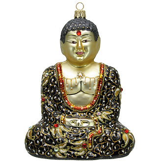 "#Buddha-Black - Thomas Glenn ""Buddha Black"" Molded Christmas Ornament"
