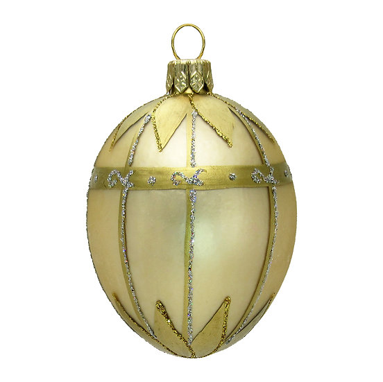 "#419 - Thomas Glenn ""Gold"" Mini Faberge Egg Ornament"