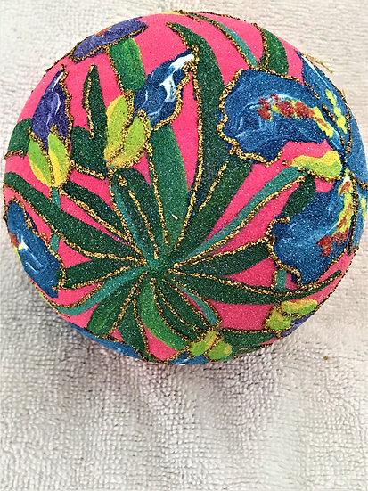"""#1838 - Thomas Glenn """"Iris"""" Ball Christmas Ornament"""