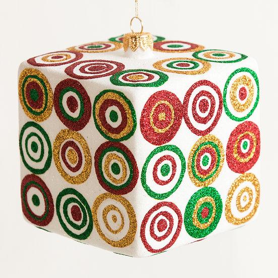 "#206C - Thomas Glenn ""Christmas Cube"" Cube Ornament"