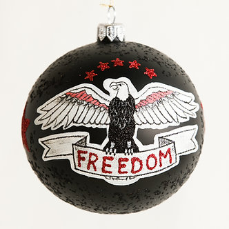 "#1882 - Thomas Glenn ""FREEDOM Tattoo"" Ball Ornament"
