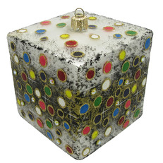 203C - Cube - Dots on Black - View 2