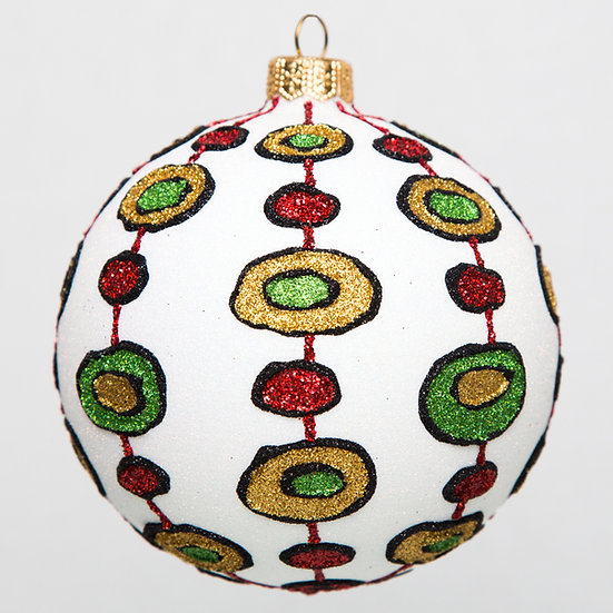 "#1755 - Thomas Glenn ""Green Eggs and Ham"" Ball Ornament"
