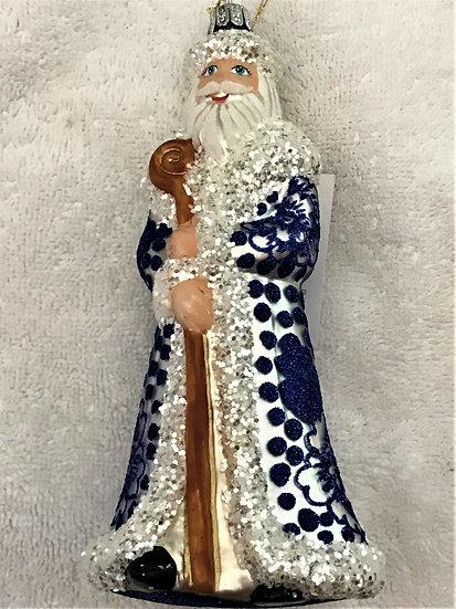 "#1962 Santa - Thomas Glenn ""Santa - Mums"" Figural Christmas Ornament"