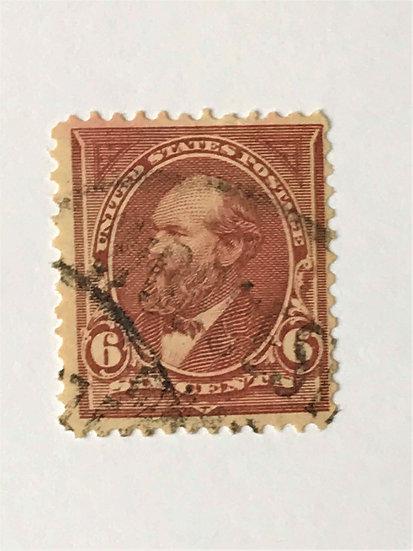 """Stamps """"US 1895 Garfield Scott #271"""" 6c dull brown"""