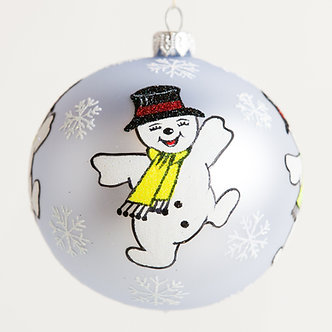 "#1835 - Thomas Glenn ""Snow Dance"" Ball Ornament"