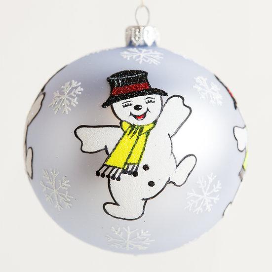 "#1835 - Thomas Glenn ""Snow Dance"" Ball Ornament"