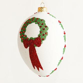 "#1881 - Thomas Glenn ""Wreath"" Egg Ornament"