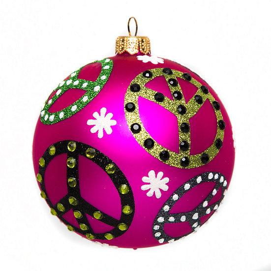 "#1653 - Thomas Glenn ""Peace"" Ball Ornament"
