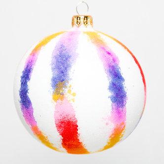 """#1714 - Thomas Glenn """"Tie Dye"""" Ball Ornament"""