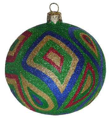 "#360 - Thomas Glenn ""Camo - Blue & Green"" Ball Christmas Ornament"