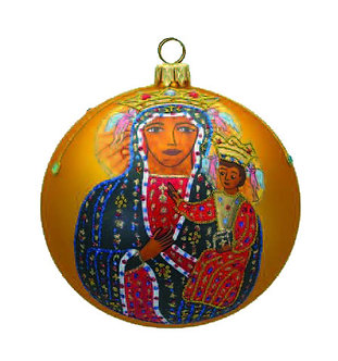 "#1001 - Thomas Glenn ""Madonna and Child"" Ball Ornament"