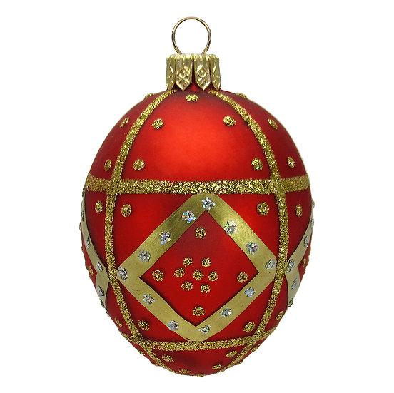 "#411 - Thomas Glenn ""Red"" Mini Faberge Egg Ornament"