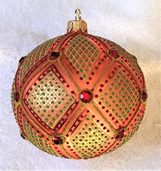 "#858 - Thomas Glenn ""Fancy"" Ball Ornament"