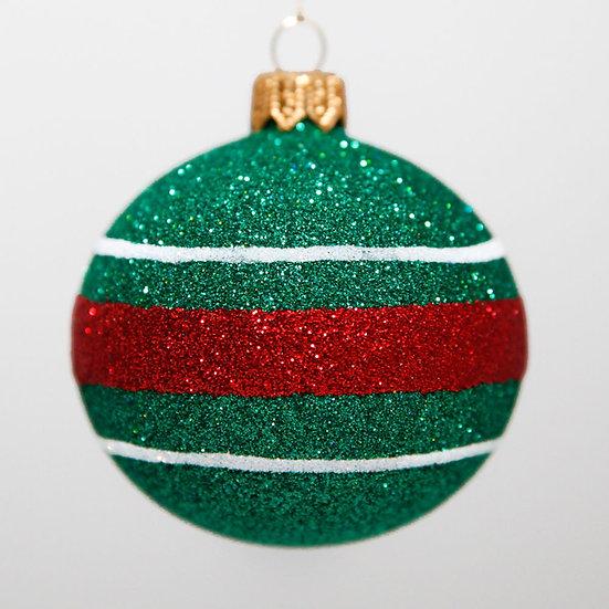 "#2090 - Thomas Glenn ""Green Joy"" Mini Ball Christmas Ornament"