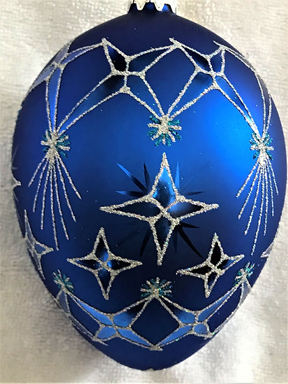 "#376 - Thomas Glenn ""Bright Star Egg"" Faberge Egg Christmas Ornament"