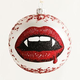 "#1887 - Thomas Glenn ""Vampire Kiss"" Halloween Ball Ornament"
