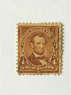 "Stamps ""US 1897-1903 Lincoln Scott #280"" 4c rose brown"