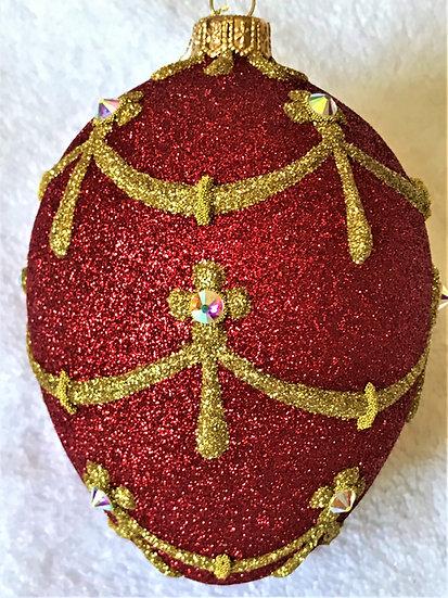 "#2079 - Thomas Glenn ""Napoleon"" Faberge Egg Christmas Ornament"