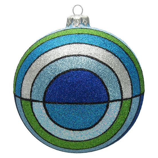 "#1412 - Thomas Glenn ""Baltic"" Ball Ornament"