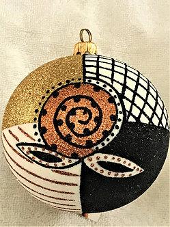 "#747 - Thomas Glenn ""Africa - Masks"" Ball Christmas Ornament"