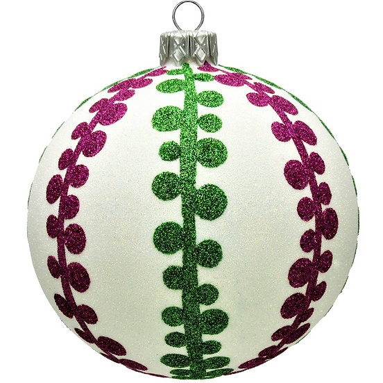 "#1654 - Thomas Glenn ""Jefferson"" Ball Christmas Ornament"